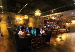 интересный дизайн интернет-кафе